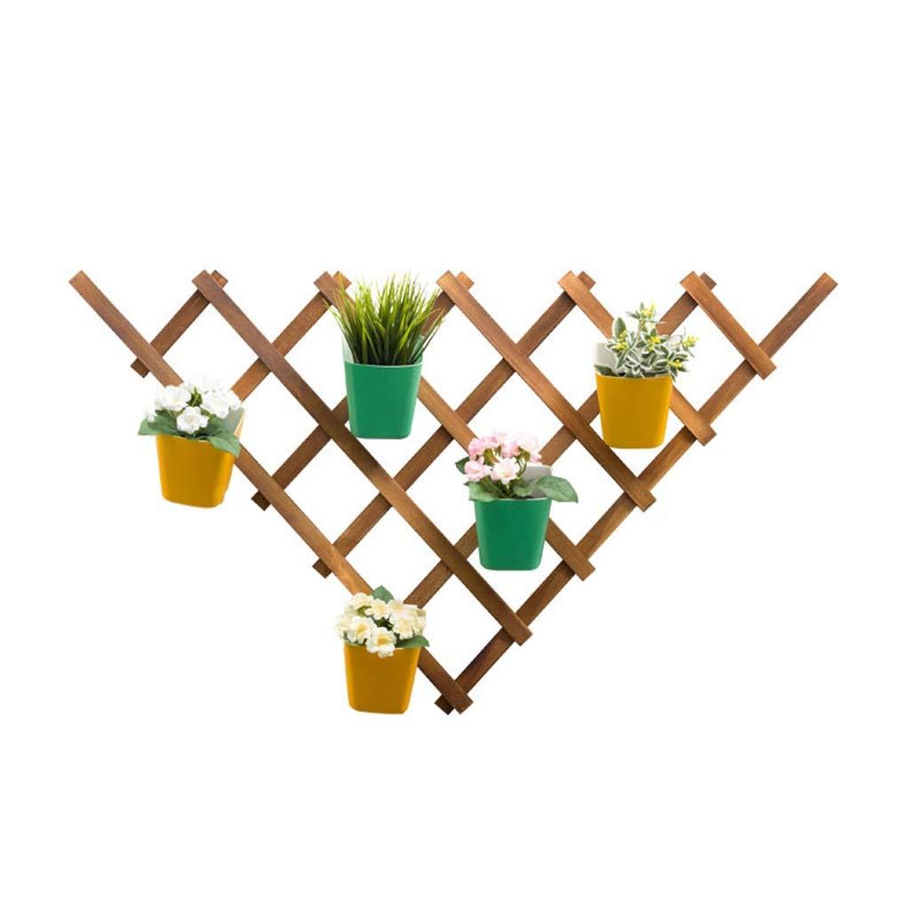 ZHJ-Flower stand Espositore per Piante Supporto di Fiori in Legno Spazio Interno per Balconi A più Piani