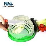: Salad Cutter Bowl 60 Seconds Salad Maker by WEBSUN Easy Fruit Vegetable Cutter Bowl Fast Fresh Salad Slicer Salad Chopper