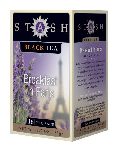Stash Tea Breakfast in Paris Black Tea,  18 Count (Best Tea In Paris)