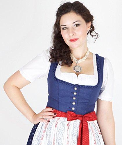 11592 Wenger Dirndl Emma (89) 80er marine weiß