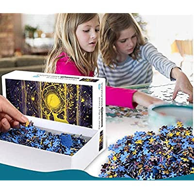 SoulQ Mini Micro Jigsaw Puzzle 1000 Piece for Adult,Starry Night Thicker Paper Puzzles,Vincent Van Gogh Famous Painting Puzzles for Youth 42 x 29.7 cm: Toys & Games