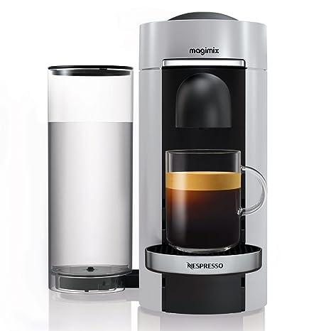 Magimix Nespresso Vertuo Independiente Máquina espresso 1.8L Negro, Plata - Cafetera (Independiente,
