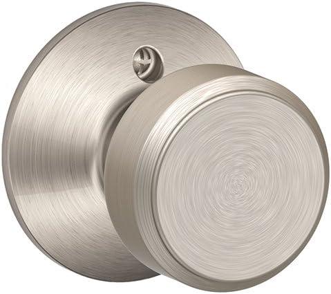 Bowery Knob Non-Turning Lock, Satin Nickel (F170 BWE 619)