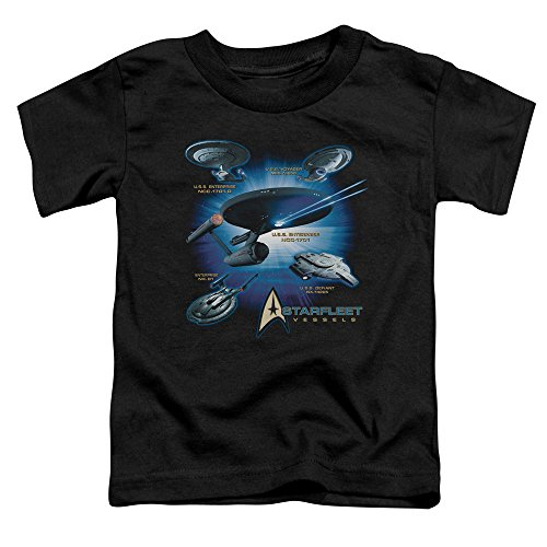 Sons of Gotham Star Trek Starfleet Vessels Toddler T-Shirt Black