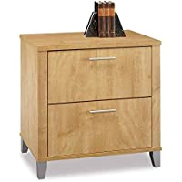 Bush Furniture Somerset 2 Drawer Wood Lateral File Storage Cabinet in Maple