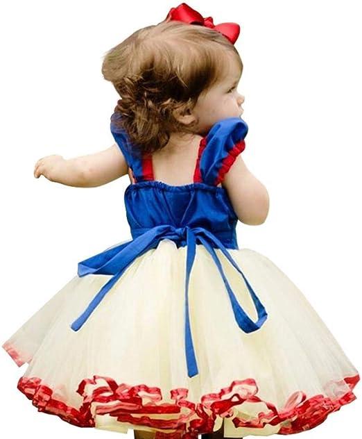 RunJuWuYe Niños Niña Princesa Caperucita Roja Vestido Blancanieves ...