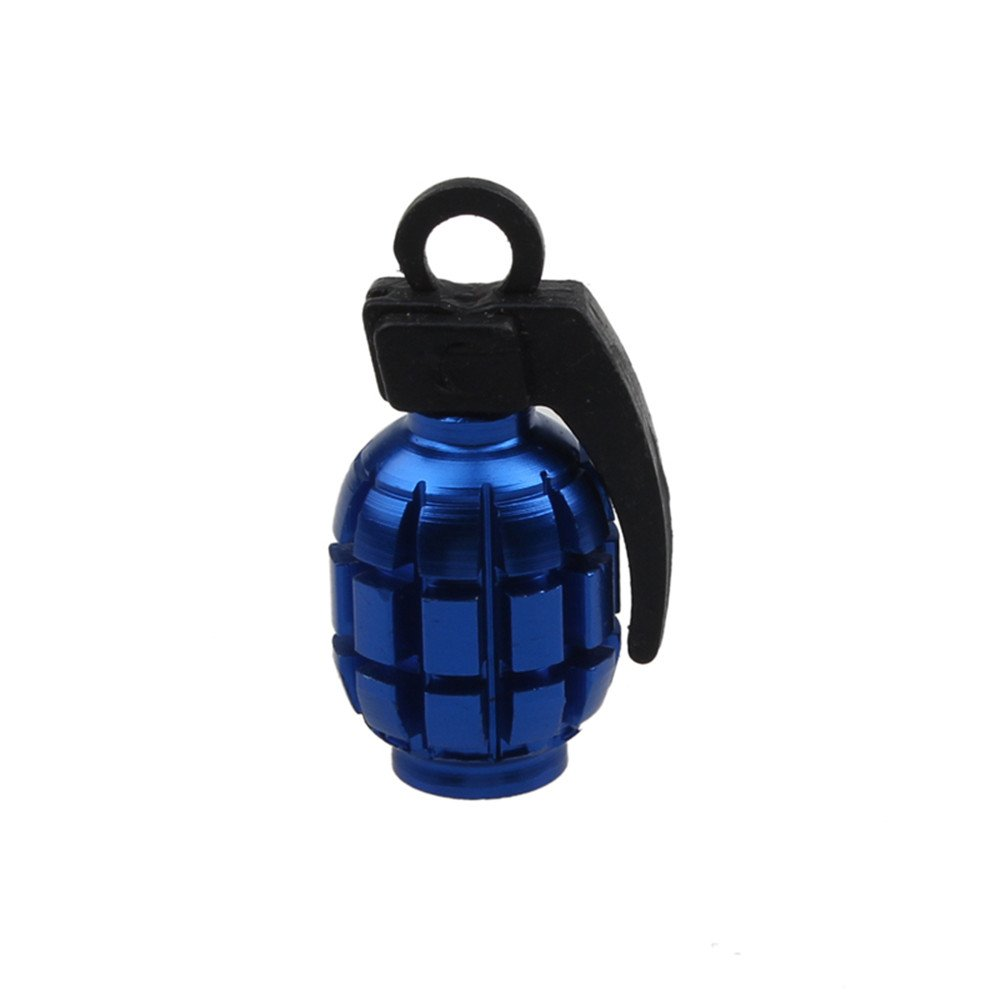TianranRT Valve Caps 2PCS Weatherproof Grenade Alloy Valve Caps Dust Covers Bike Bicycle MTB BMX Fit For all Car Motorcycle