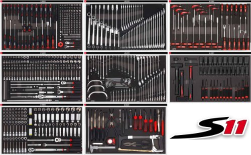 vente sonic equipment servante atelier s11 644 outils 7644 1 noire. Black Bedroom Furniture Sets. Home Design Ideas