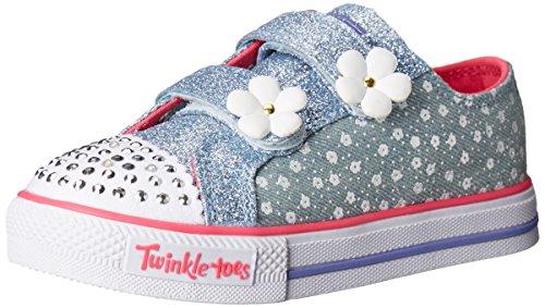 - Skechers Kids Twinkle Toes Shuffles Sweet Steps Light-Up Sneaker,Denim,12 M US Little Kid