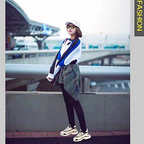 Versione No Shoes Scarpe 55 Xiaolin Corsa Nero Da Sportive Donna Coreana Studente Bianco RO6rOXUn