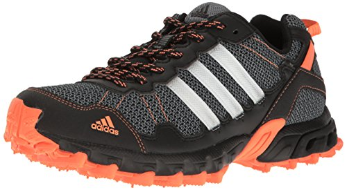 adidas Women's Rockadia Trail W Running Shoe Black/White/Easy Orange 6 M US by adidas (Image #1)