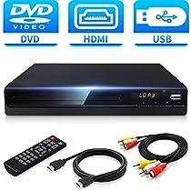 Jinhoo DVDプレーヤー1080Pサポート DVD/CDディスクプレーヤー ...