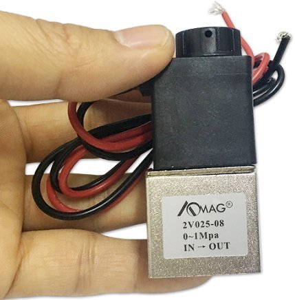 AOMAG 1/8 2 Way Normally Closed Pneumatic Aluminum Electric Solenoid Air Valve 12V DC