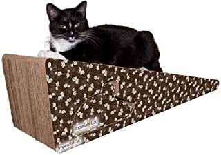 product image for Imperial Cat Giant Wedge Scratch 'n Shape, Brown Floral