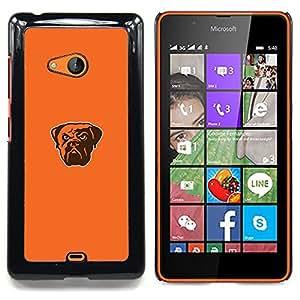 - Angry Cool Bulldog - - Cubierta del caso de impacto con el patr??n Art Designs FOR Microsoft Nokia Lumia 540 N540 Queen Pattern