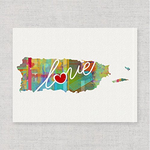 Puerto Rico Wedding - Puerto Rico Love - An Unframed Watercolor-Style Wall Art Print on Fine Art Paper