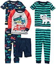 Simple Joys by Carter's Baby-Boys 6-Piece Snug Fit Cotton Pajama Set Pajama
