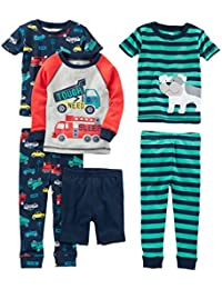 Boys' 6-Piece Snug Fit Cotton Pajama Set