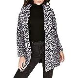 Clearanc Sales Leopard Faux Fur Jackets Winter Cardigan Coat AfterSo Womens
