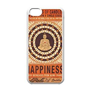 Buddha Back Case Cover for Iphone 5C,diy Buddha case cover series 5