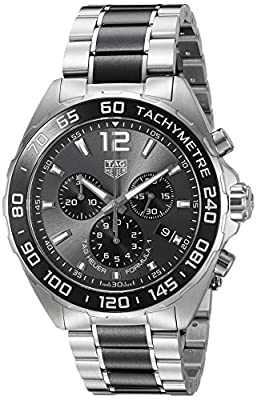 TAG Heuer Men's 'Formula 1' Swiss Quartz Stainless Steel Dress Watch, Color:Silver-Toned (Model: CAZ1011.BA0843) from TAG Heuer