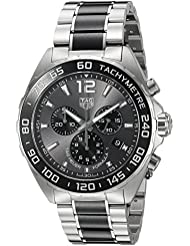 TAG Heuer Mens Formula 1 Swiss Quartz Stainless Steel Dress Watch, Color:Silver-Toned (Model: CAZ1011.BA0843)