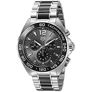TAG Heuer Men's 'Formula 1' Swiss Quartz Stainless Steel Dress Watch, Color:Silver-Toned (Model: CAZ1011.BA0843)