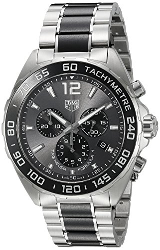 Tag Heuer Chronograph Wrist Watch - TAG Heuer Men's 'Formula 1' Swiss Quartz Stainless Steel Dress Watch, Color:Silver-Toned (Model: CAZ1011.BA0843)