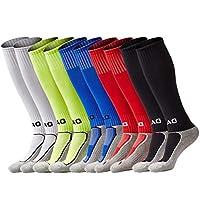 Youth Soccer Socks Boys Girls Knee High Cotton Athletic...