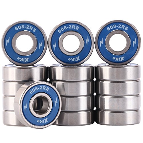 16 Pack 608-2RS Skateboard Bearings 8x22x7mm, Double Seal and No Grease. Fast Smooth Silent and Long Life, The Same Fit Longboard, Lnline Skates, Scooters and so on. – DiZiSports Store