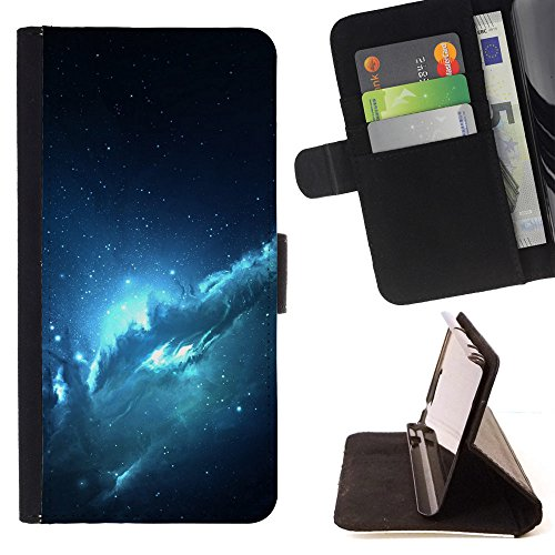 ICE CASE - FOR Samsung GALAXY On7 / G6000 - Atlantis Nebula - Painting Art Smile Face Style Design PU Leather Flip Stand Case Cover