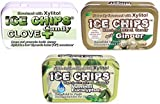ICE CHIPS Candy 3 Pack Assortment (Clove, Ginger, Menthol Eucalyptus)