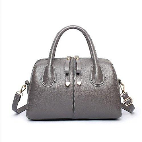 Totes Travel Hombro Cuero Bolsas Señoras Bolso Body Para Capacidad De Grey Bolsos Cross Mujer Del Las Bag Totalizador Gran Bq5vT4wa