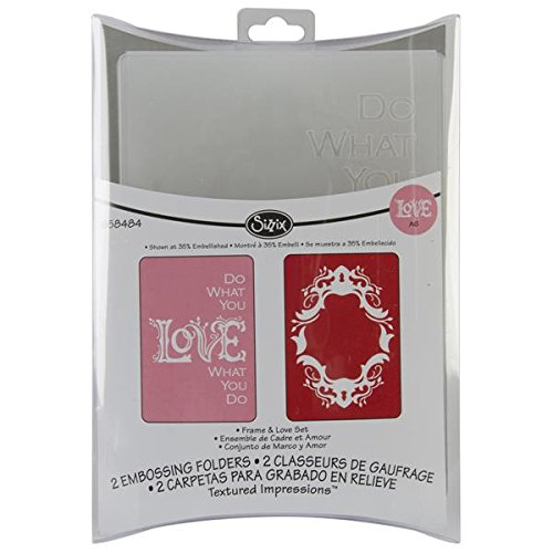 Sizzix Frame Love Textured Impressions Embossing 658484