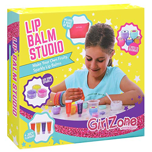 GirlZone Gifts Girls: Make Your Own Lip Balm Kit This 22 Piece Makeup Set Girls. Birthday Present Gift Girls Age 6 7 8 9 10 11+ Years Old.