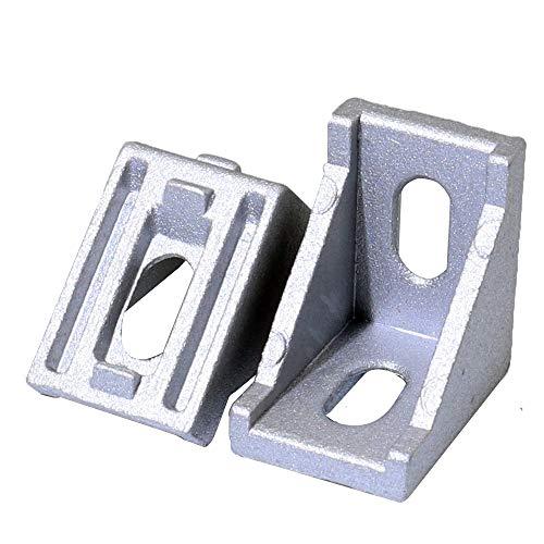 Boeray 20pcs 2020 Aluminum Corner Bracket for Aluminum Extrusion Profile 2020 slot 6mm