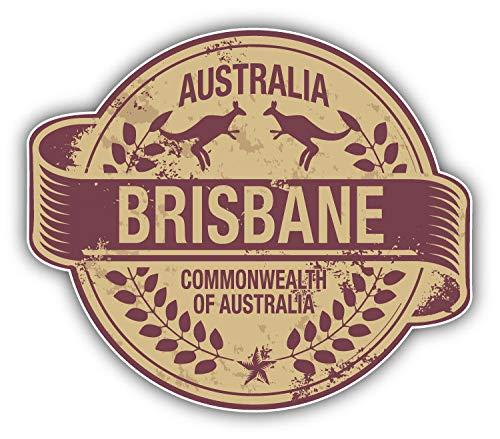 (JJH Inc Brisbane City Australia Grunge Travel Stamp Vinyl Decal Sticker Waterproof Car Decal Bumper Sticker 5