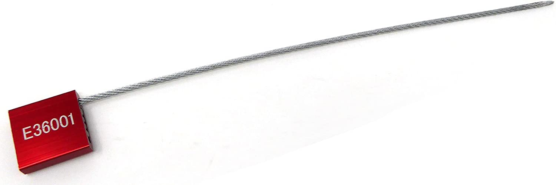 200 Units Red Adjustable Flange Metal Security Seals