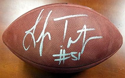 60163005 Lofa Tatupu Autographed Official NFL Leather Football Seattle ...