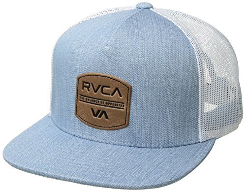 RVCA Men's Denim Trucker HAT, Washed Blue ONE Size