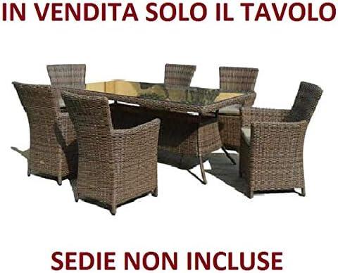 Vendo Tavolo Da Giardino.Tavolo Da Giardino Per Esterni Con Vetro Colore Marrone Modello