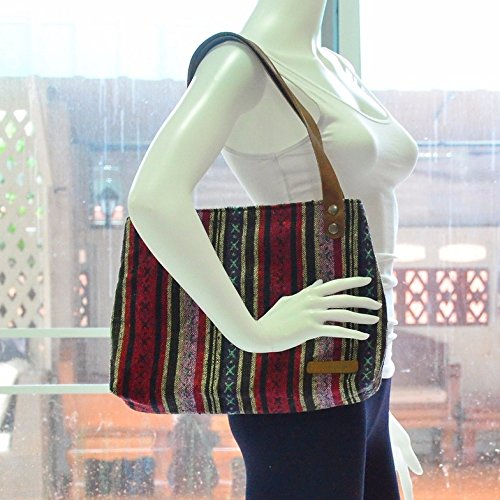 Bohemian / Handbags / Purses / Tote bags / Anniversary Gifts / Christmas Gift Ideas / Red / Stripe by Pim Collection
