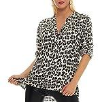 51LwqUJnlJL. SS150  - Malito Damen Bluse mit Leo Muster | Tunika mit ¾ Armen | Longsleeve mit Animal Print | Elegant - Oversize - Shirt 6702