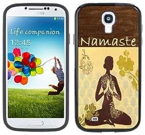 Yoga Namaste Samsung Galaxy S4 Black Bumper Hard Plastic Case