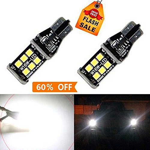 912 Bulb (Bulbeats 800 lumens Extremely Bright Error Free 921 912 W16W PX Chipsets LED Bulbs For Backup Reverse Lights, Xenon White 6000K BEST)