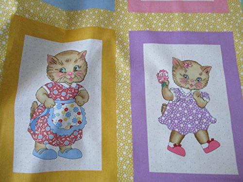 Robert Kaufman Penny's Pets Thirties Fabrics by Darlene Zimmerman Dogs and Cats Panel -