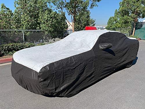 Tuxcover Custom Fit 2013-2019 Dodge Challenger Car Cover All Weatherproof Multi Tyvek Covers R//T, SRT, T//A, SXT, Hellcat