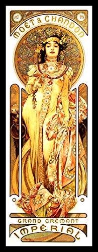 (Alphonse Mucha FRIDGE MAGNET Art Nouveau Poster 7x18 Magnetic Canvas Print)
