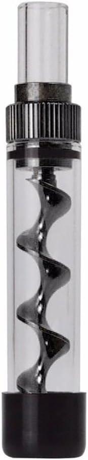 pipa in vetro smussato senza carta senza filtro Twisty regalo per feste o per passatempo,Silver non pressata vaporizzatore per fumare