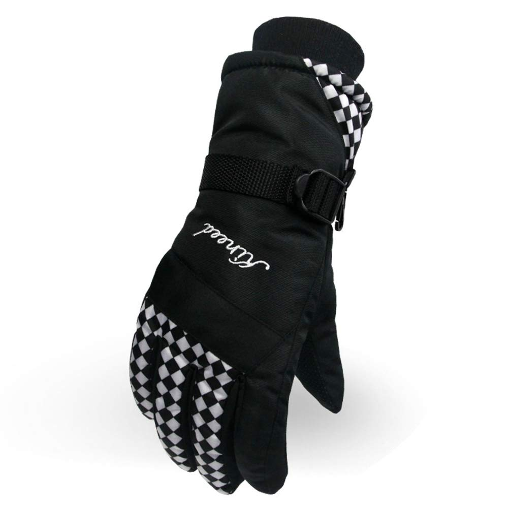 Rouoi Winter Outdoor Sports Electric Car Riding Ladies Gloves Ski Thick Warm Gloves